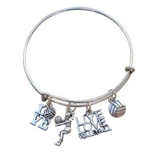 Infinity Collection Jewelry - Volleyball Charm Bangle